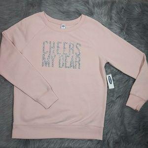 Old Navy Sweatshirt Women's Size XS Cheers my dear